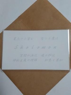 ソロモン(Sholomon)マスター 守護カード