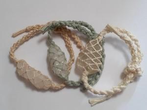 エンジェルストーン ヘンプ編みブレス3個セット (追加13点)