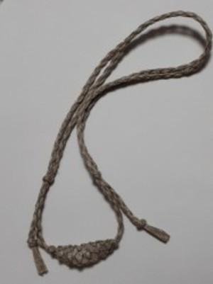エンジェルストーン ヘンプ編みネックレス B
