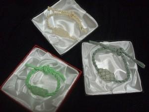 エンジェルストーン ヘンプ編みブレス3個セット